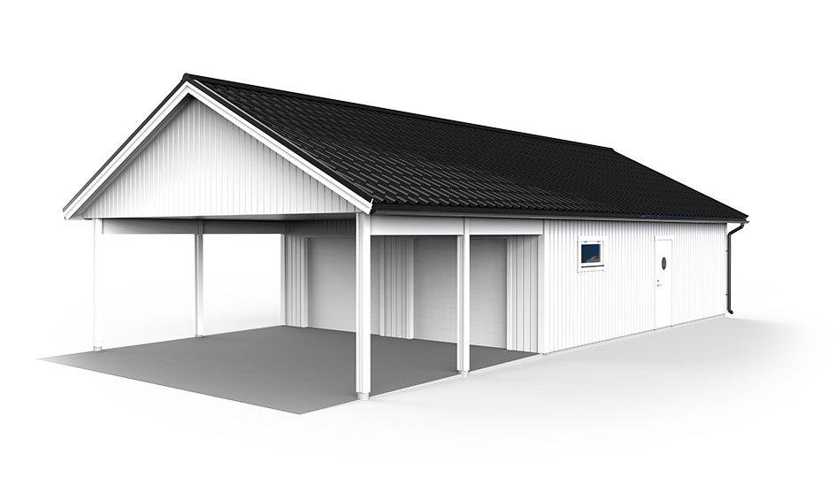 Garage med carport 7 2 x 14 4 m l v ngers bygg ab Garage carports