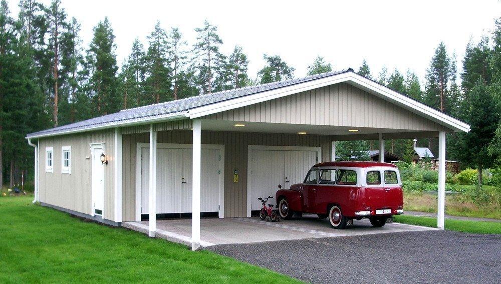 dubbelgarage med carport