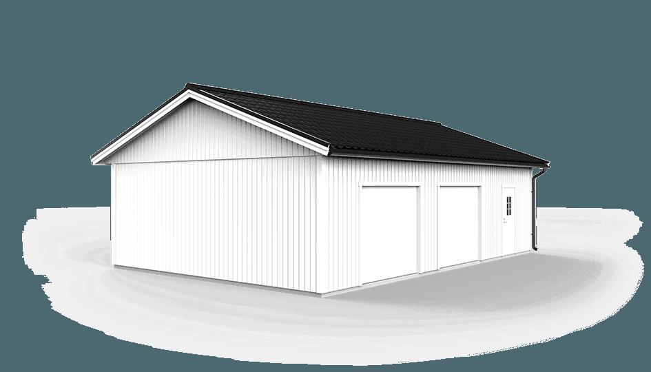 dubbelgarage 7 2 x 10 8 m l v ngers bygg ab. Black Bedroom Furniture Sets. Home Design Ideas